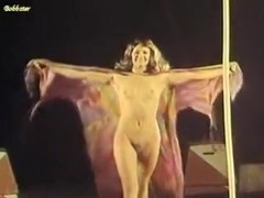Nude female circus acrobat