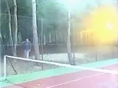 Stunning Classic Fisting Scene On The Tennis Court