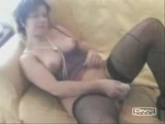 Mature female entertains