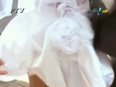 wedding dress upskirt sexy ass on the horny looking bride