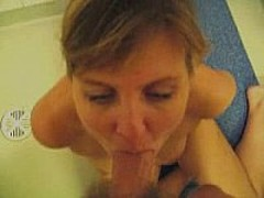 Hot British MILF gets jizzed on in the face