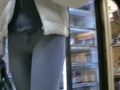 Cute bitch in very tight jeans adores street candid things
