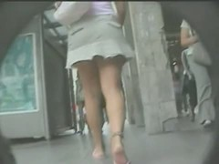 My amateur upskirt shot of a tight teen blonde
