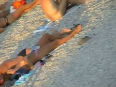 Beach nudist girls providing with the real heat under sun