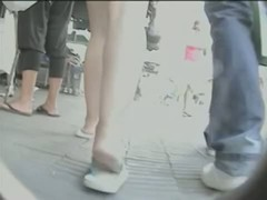 Upskirt video of nice tight asses in the street