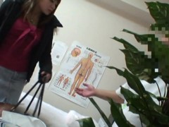 Massage spy cam shoots dirty man exploring Asian pussy