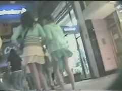 Epic public voyeur up skirt video of a white chick
