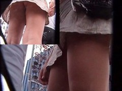 Candid upskirt shots in the street