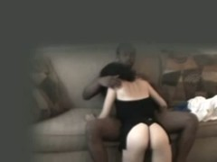 Gorgeous sexy white chick has sex on a couch, and gives a bj