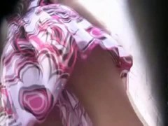 Colorful one piece girl underskirt video for free download