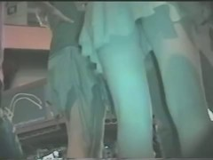 a couple of women twin upskirt footage in town at night