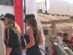 Candid thick ass video of three drop dead gorgeous racing models