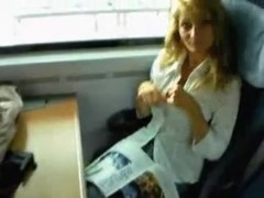 porno star level chick on a train ride