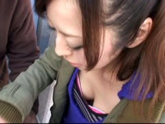 A stimulating downblouse video of Asian bazoongas