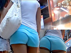 Delightsome bubble a-hole in ass shorts