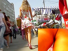 Overwhelming summer costume upskirt episode