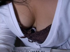 Hot downblouse Asian spy cam vid
