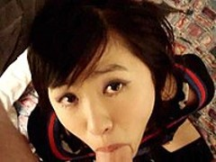 Asian in uniform BJ and hardcore sex