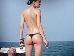 Amateur ass caught on the beach!