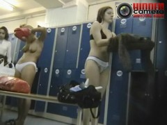 Real hidden spy cams showing girls in dressing room chatting