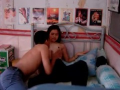 Hairy Asian girl home made sex video