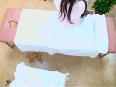 Sweet Jap hottie screwed doggystyle in voyeur massage video