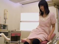 Skinny Jap fucked balls deep during medical examination