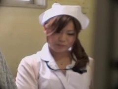 Busty nurse fucks her patient in spy cam Japanese sex video