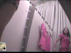 Real Barbie in pink dress change room voyeur erotica