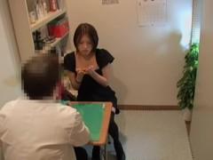 Adorable Jap in stockings slammed during medical exam