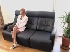 Leggy blonde Jap dicked in spy cam Japanese sex video