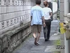 Asian with a hot ass shuri sharked in  the narrow passage