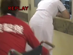 Nurse staying back to lewd man gets her bottom sharked