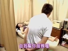 Titless Jap teen banged during Japanese sex massage