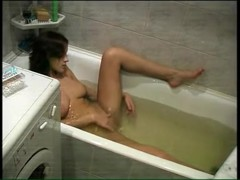 Bathroom hidden camera real amateur masturbation