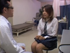 Perfect Jap teen gets her snatch drilled by a gynecologist