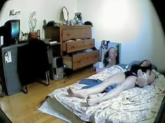 Slender bodied amateur masturbating on hidden cam