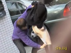 Dark-haired Asian woman gets stunned during wicked sharking attack