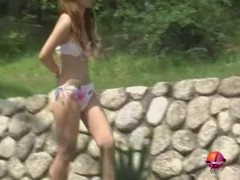 Bikini sharking encounter with tender oriental babe losing all her clothes