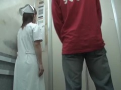 Real medical worker got her uniform sharked on cam