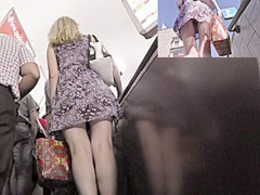 One of the most good escalator upskirts