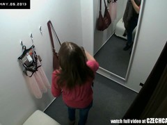 Agreeable Czech Legal Age Teenager Snooped in Changing Room!