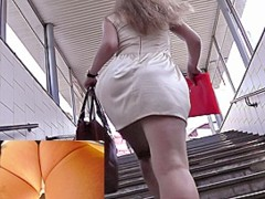 Public transport spy upskirt movie