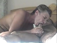 Concupiscent Wife Licks and Sucks Cock