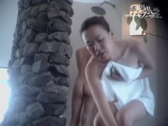 Slender Asian beauty sitting in shower and doing nothing dvd 03309