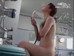 Nude Asian from the shower bends over washing the head dvd 03167