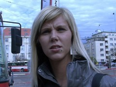 czech streets - ilona takes cash for public sex