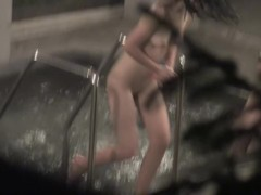 I am hiding in bushes and spying naked girl in sauna nri013 00