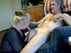 Non-Professional Mature Oral Pleasure-Sex on Sofa with Wife Enjoying Sucking