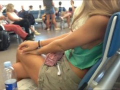 Downblouse in Malpensa airport